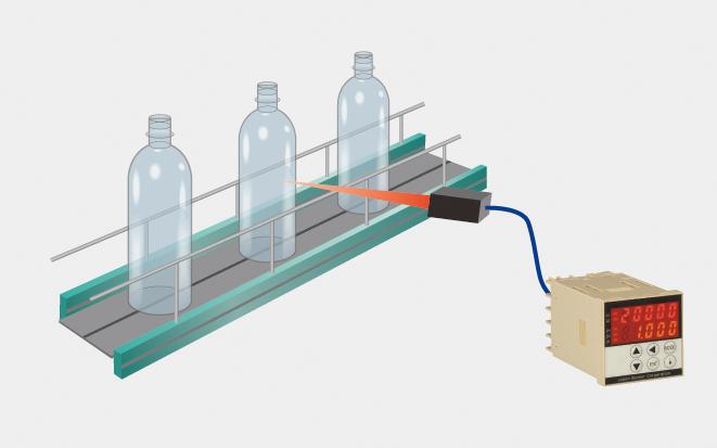 びん・ボトルの転倒殺菌時の温度測定のイメージ